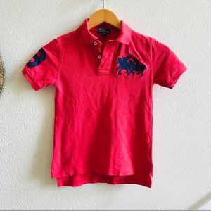 POLO RALPH LAUREN boys big pony shirt red S 8